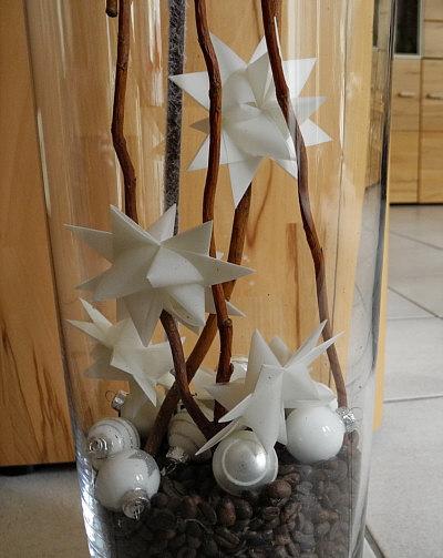 Hohe Glasvase Weihnachtlich Dekorieren - dekorationen aus holz dekorationen hohe glasvase ...