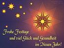 frohe Festtage und viel Glück und Gesundheit im Neuen Jahr