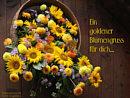 Ein goldner Blumengruß für dich