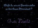 Weißt du, wie viel Sternlein stehen an dem blauen Himmelszelt ? ... gute Nacht