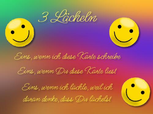 3 Lächeln